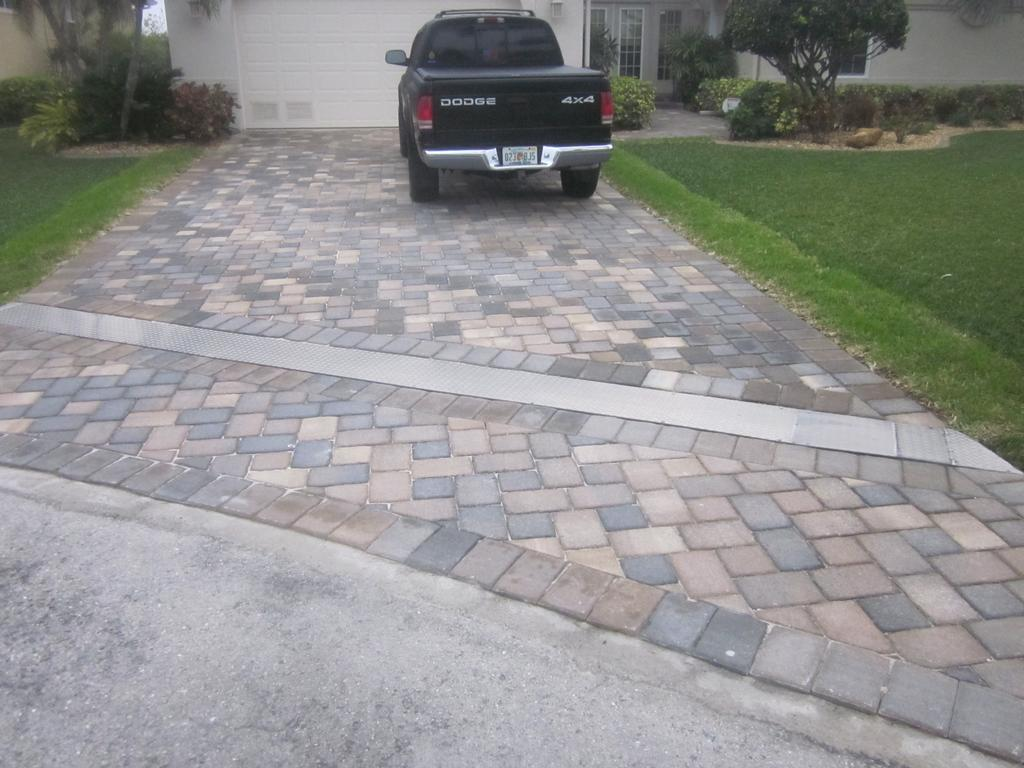 Pavers installed on boxed culvert driveway from Bill ...