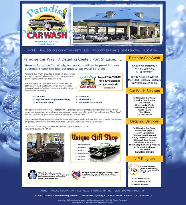 Paradise car wash coupons