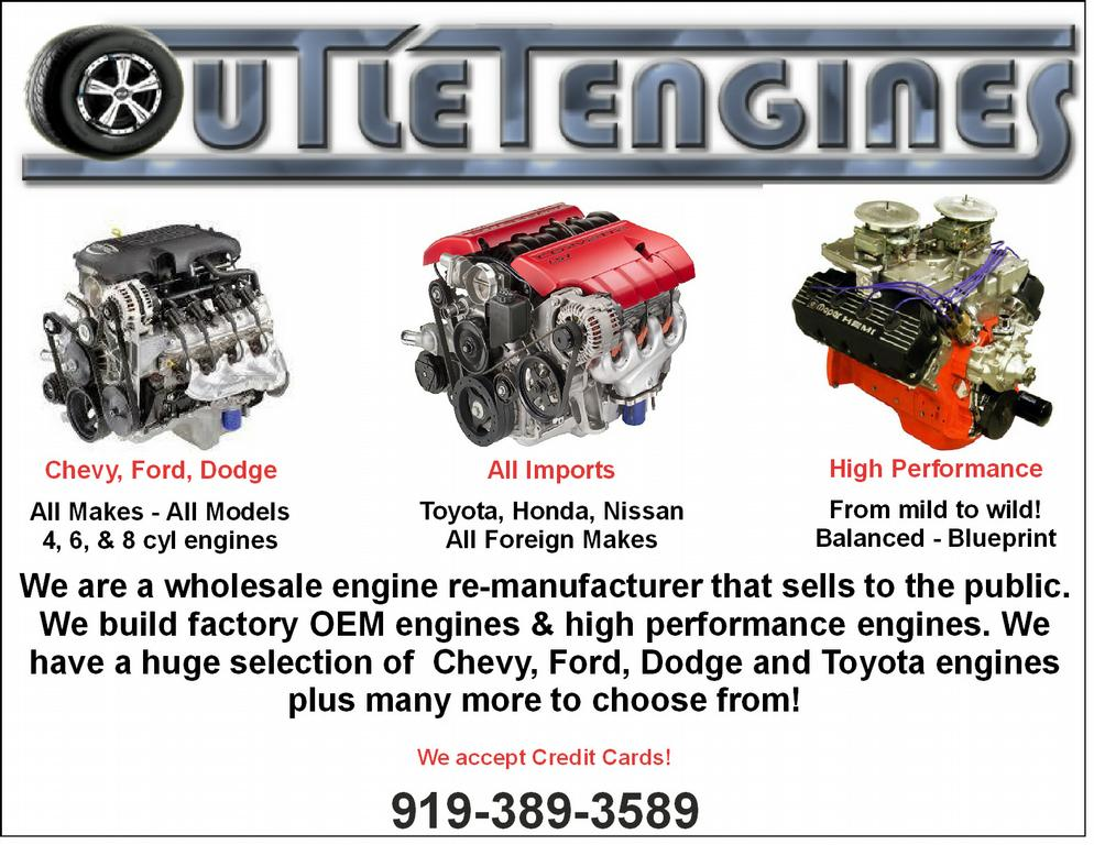 REBUILT ENGINES GM FORD CHEVY DODGE TOYOTA 22Re REBUILD