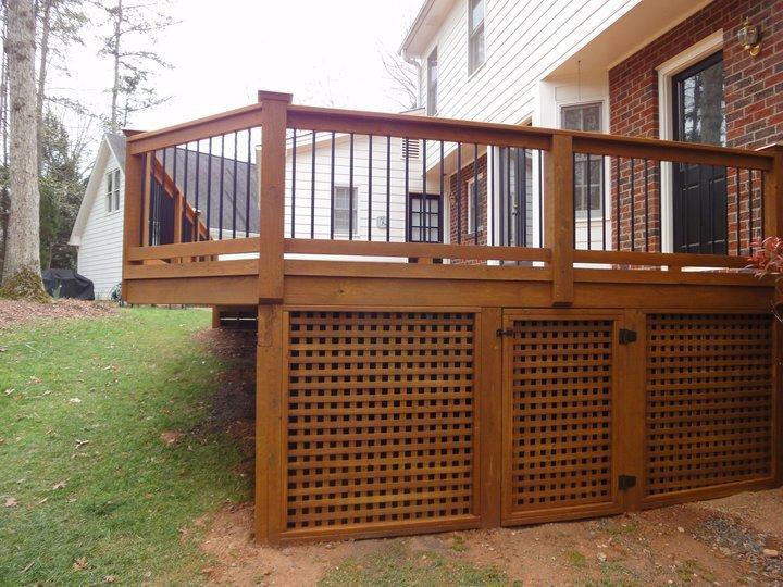 Deck Construction Design : Deck building lattice