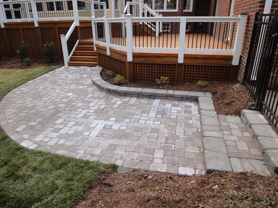 Raleigh Stone Patio Porch By Raleigh Deck Builder