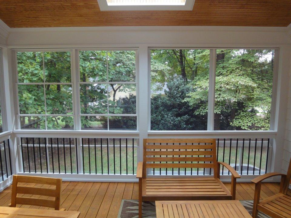 Eze Breeze With Deckorator Balusters From Raleigh Sunrooms