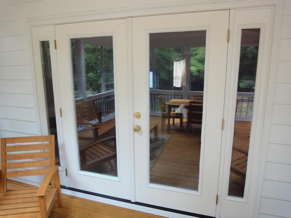 Raleigh french door installation from raleigh sunrooms for French doors to deck
