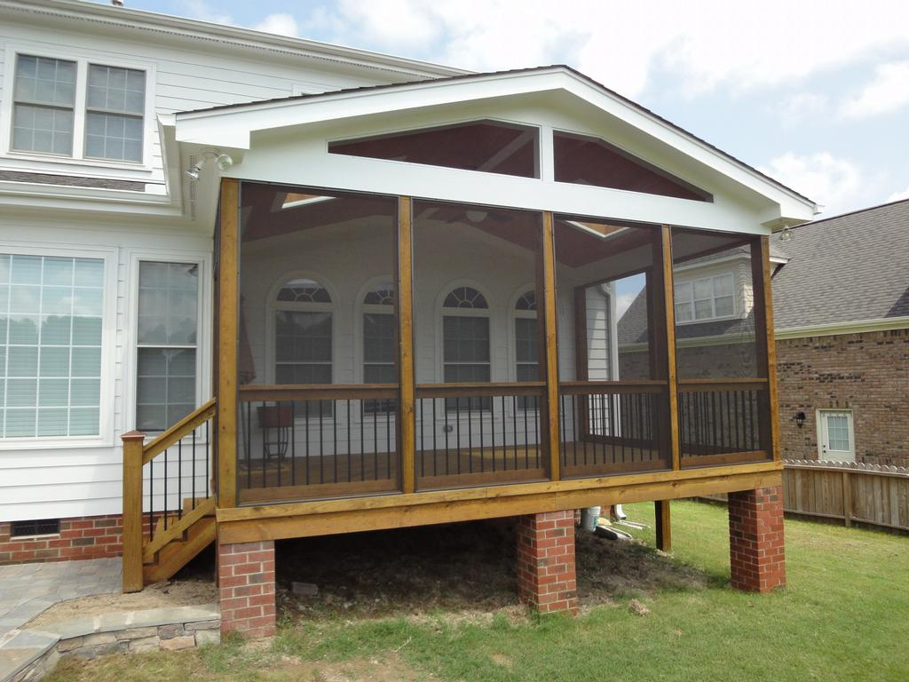 Raleigh Screen Porch Brick Columns From Cary Deck Screen
