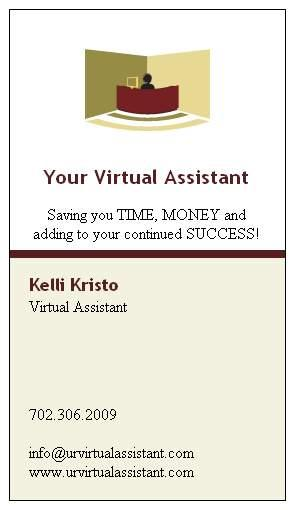Yva Business Cardg From Your Virtual Assistant In Las Vegas Nv 89131