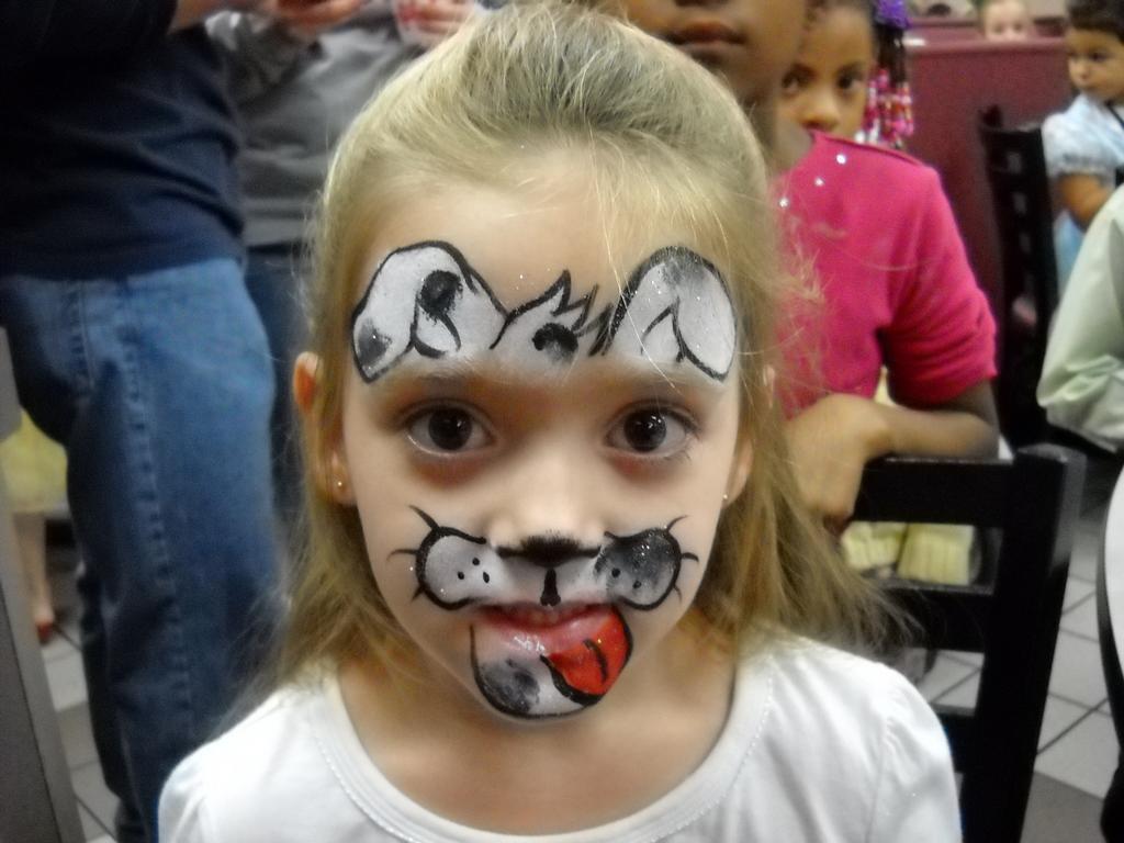 Paint Face Paint Kids Dog