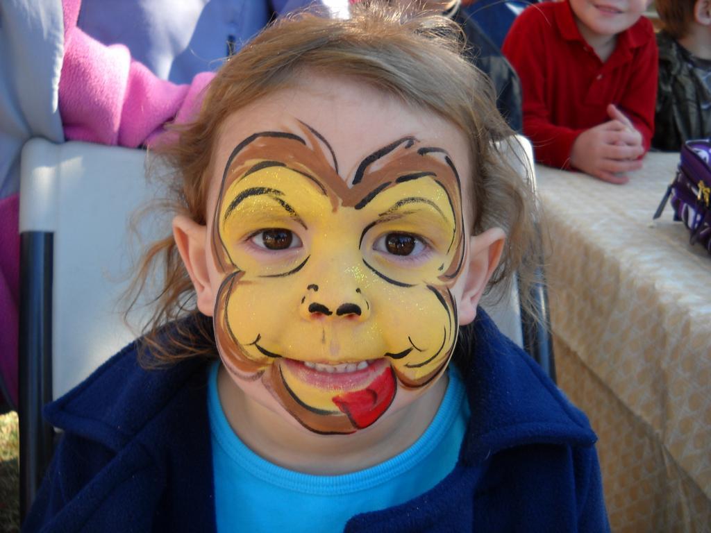 Monkey face makeup - photo#21