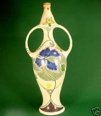 Gouda Art Nouveau Bow Vase From Goudas Garden Gouda Pottery In