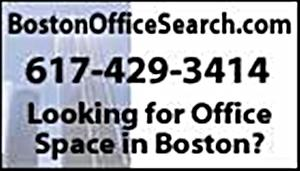 BostonOfficeSearch.com logo ad whofish.w300x171h by GILES COMMERCIAL REALTY GROUP
