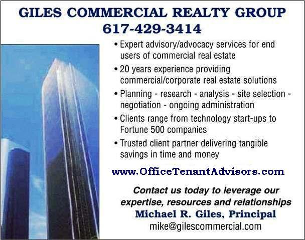 Boston Office Space Advisory Services by GILES COMMERCIAL REALTY GROUP