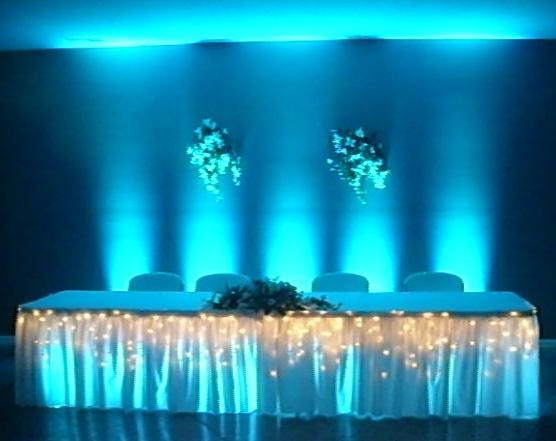 Fort Wayne Head Table Uplighting And Under Table LightingJPG From DJ Fox Entertainment Ohio DJs