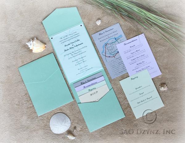 Beach Theme Wedding Invitations Ocean Theme Wedding Invitations