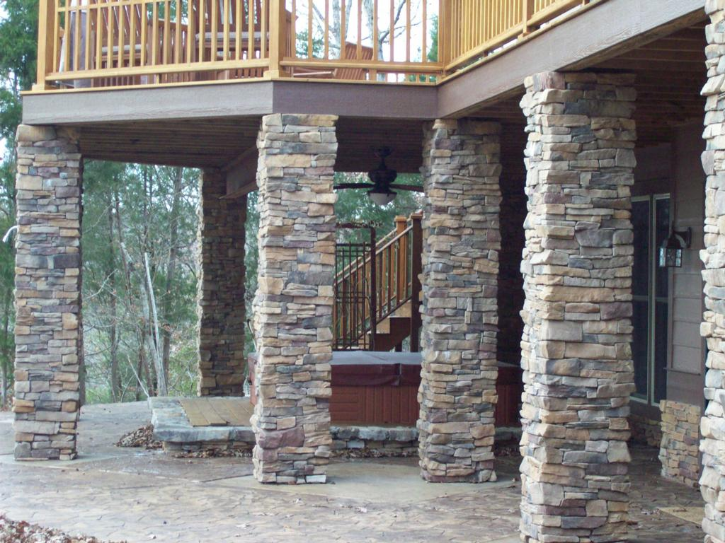 Cultured Stone Pillars : Veda s room manufactured stone friend or foe