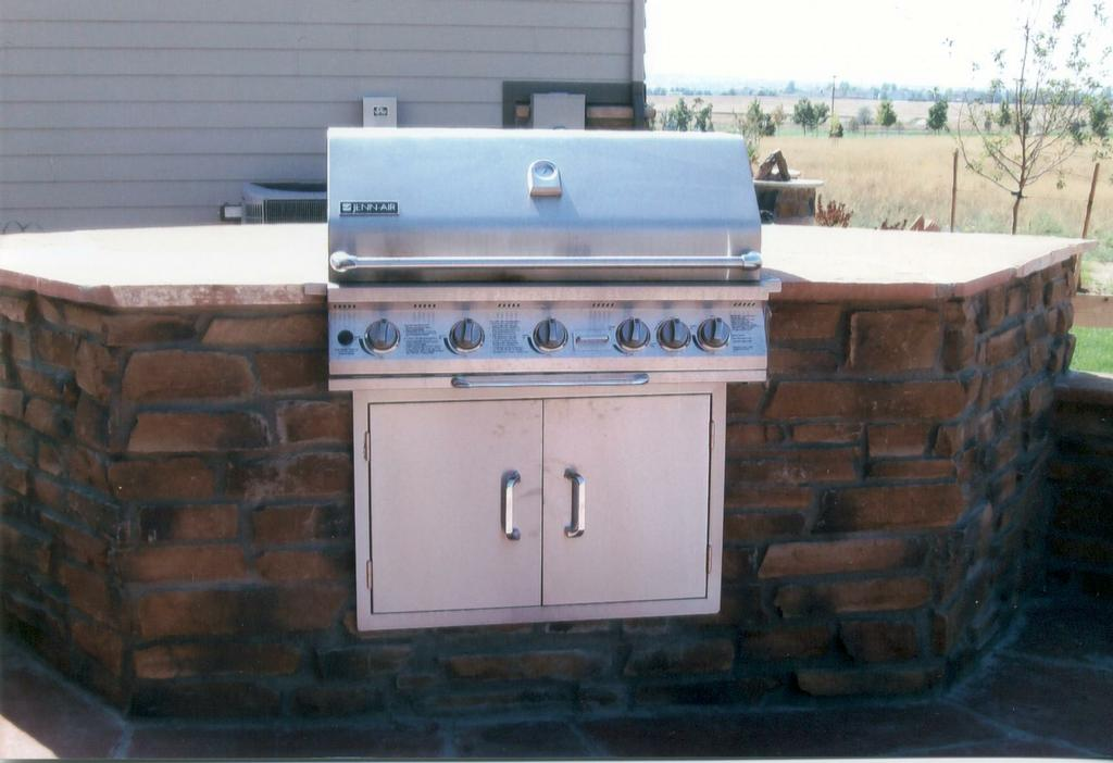 Picture: Built-in BBQ provided by J's Custom Concrete Patios ...
