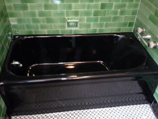 bathtub refinishing custom black from in touch