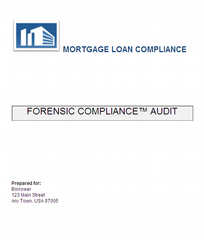 Mortgage loan compliance san francisco ca 94104 866 for Forensic audit of mortgage loan documents