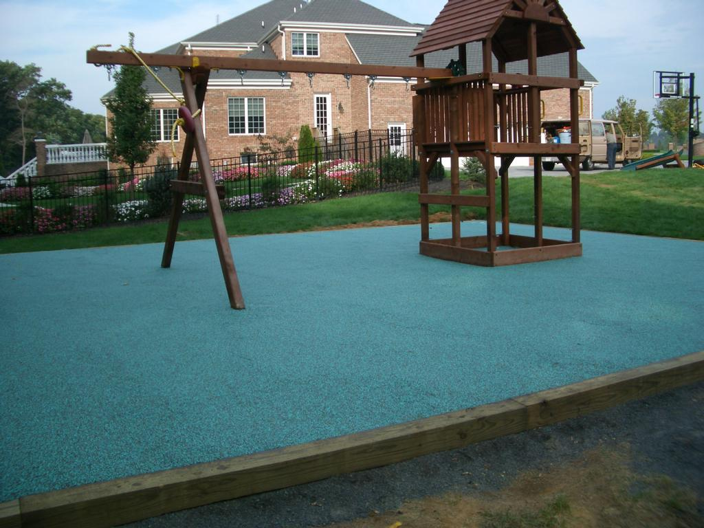 Safety surface playground surface from custom concrete - Playground surfaces for home ...
