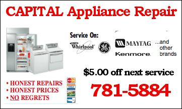 Capital Appliance Repair Raleigh Nc 27601 919 781 5884