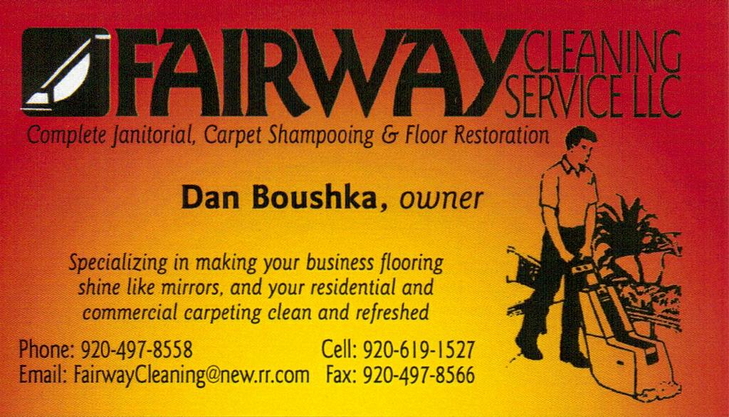business card d from Fairway Cleaning Service, LLC in Green Bay ...