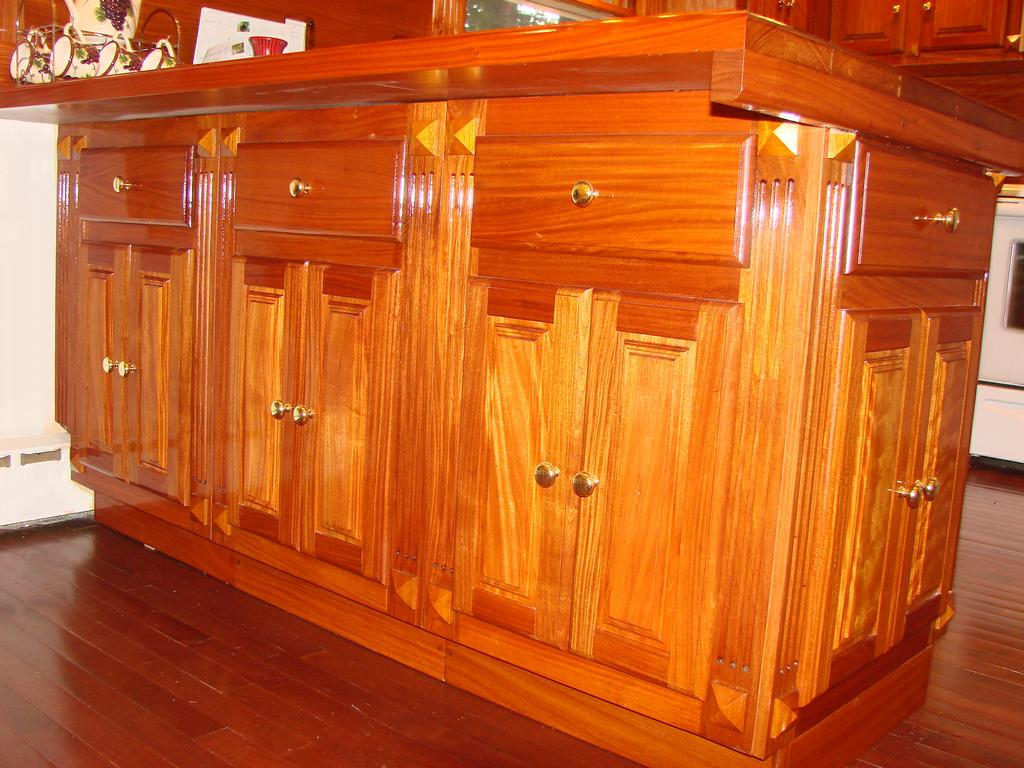 SANTOS MAHOGANY KITCHEN CABINETS From Mill Work Carpentry In