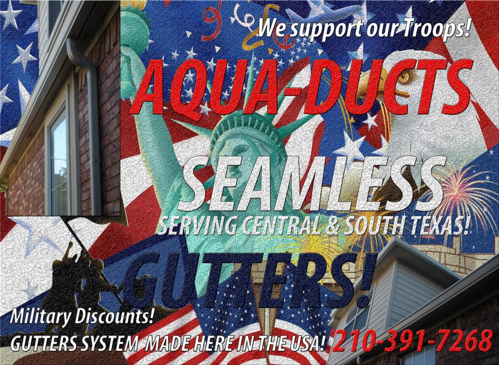 Aquaducts Seamless Gutters S A T X 210 391 7268 San