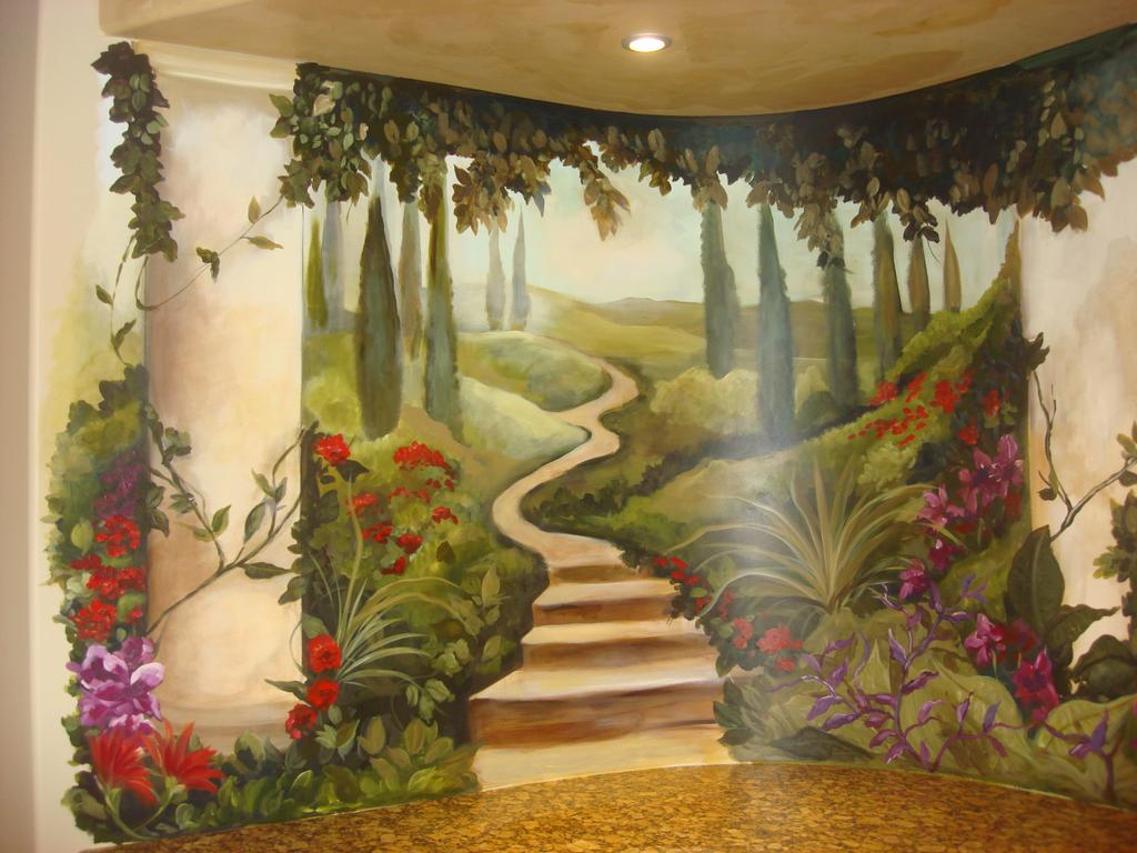 Garden Wall Murals Ideas Dsc05155 From Laplant Designs Amp Murals For Kids In