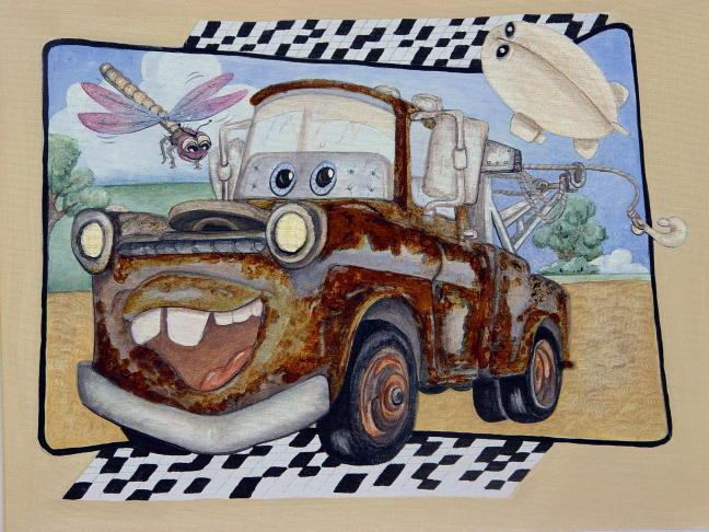 Real Rust on this children's truck mural by Fauxtastic Dreamscapes LLC