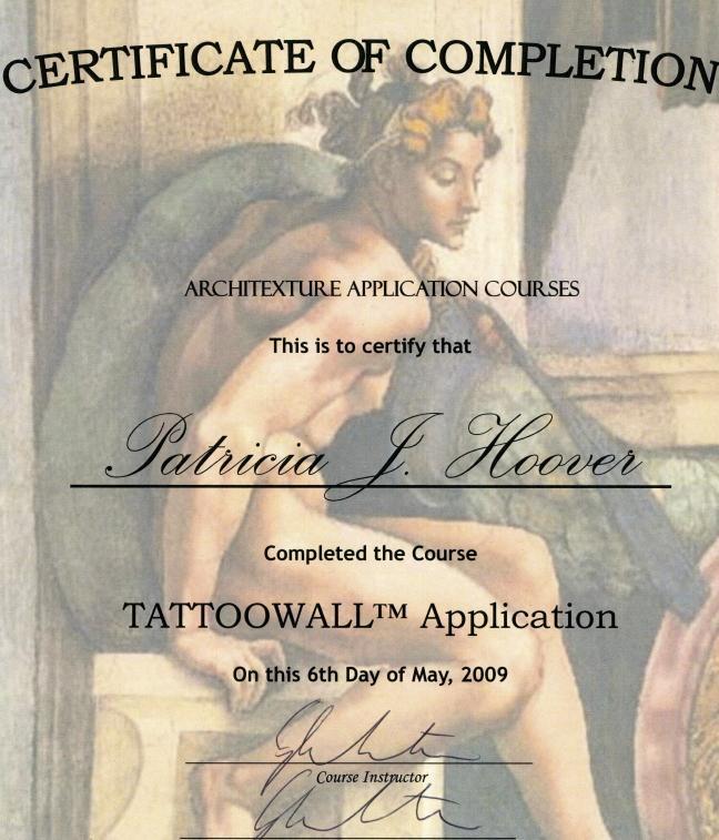 PJ's an applicator for Tattoo Wall Applications by Fauxtastic Dreamscapes LLC