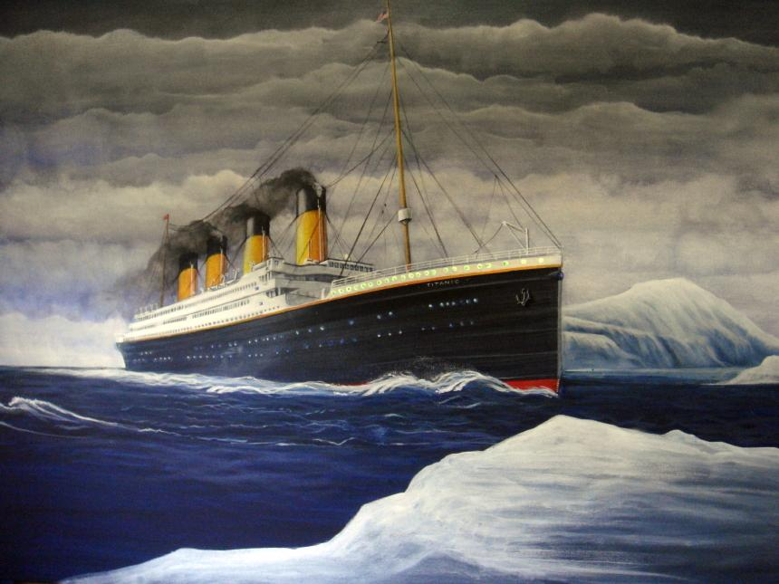 Titanic Painting by Fauxtastic Dreamscapes LLC