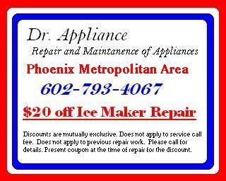 Appliance Repair Phoenix Scottsdale Ice Maker Repair.JPG by Dr. Appliance