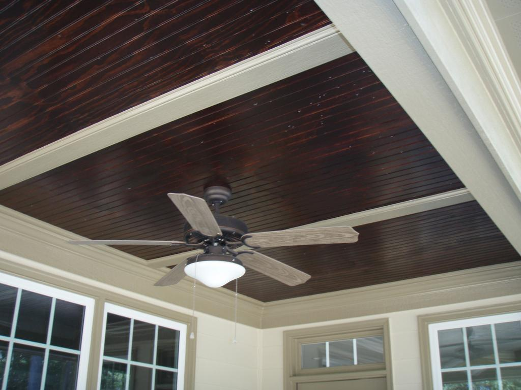stained beadboard ceiling from curtis construction