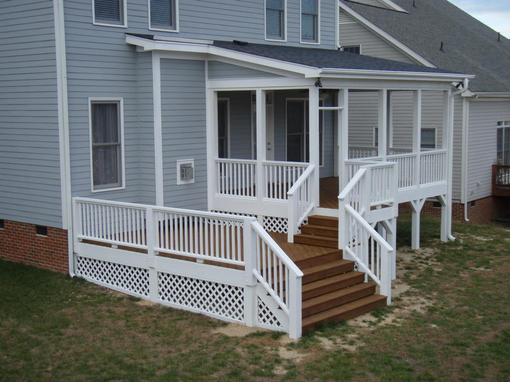 Wake Forest Screen Porch And Side Deck From Curtis