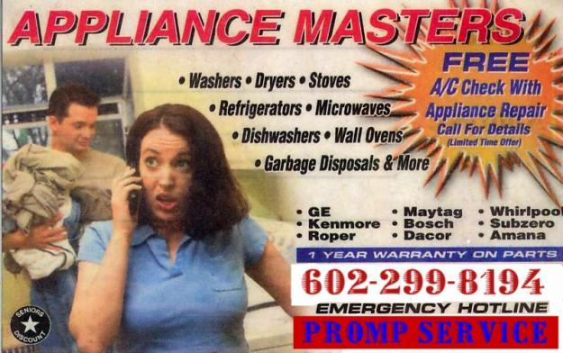 Appliance Repair In Phoenix Az Save 25 Phoenix Az
