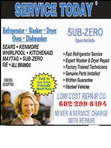 Appliance Repair In Phoenix Az Save 25 Phoenix Az