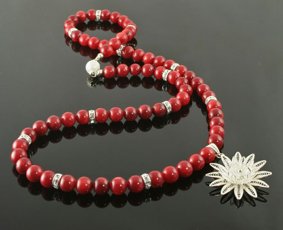 Deepest Red Necklace by Rose of Sharon Jewelry