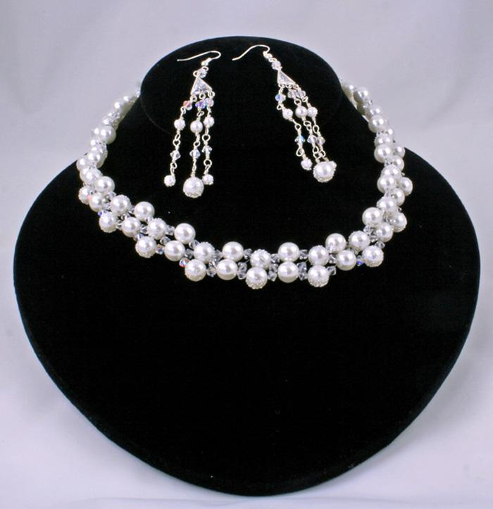 Perfect Moment Vintage Faux Pearl Necklace Set by Rose of Sharon Jewelry