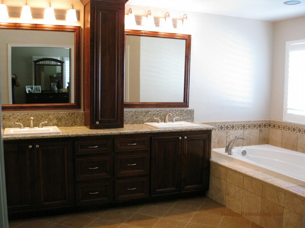 Master bathroom from budget remodeling inc in roseville for Master bathroom on a budget