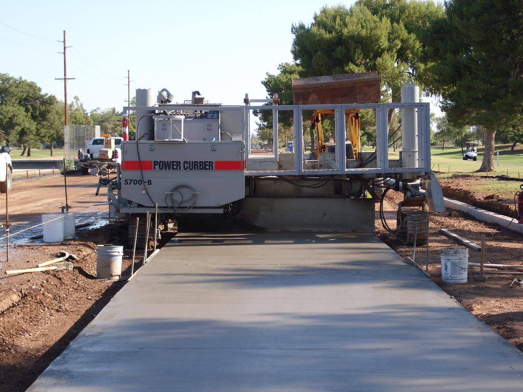 concrete curbing machine rental