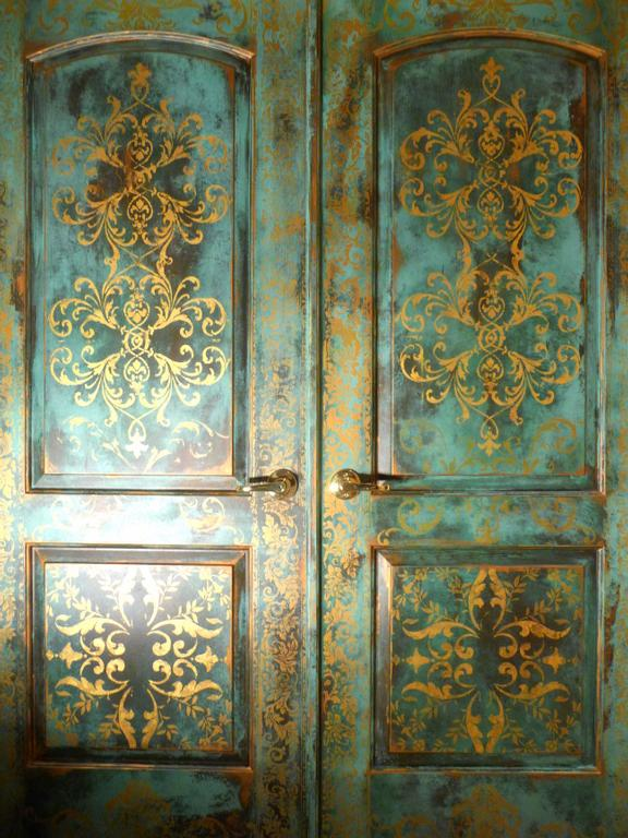 new image blue bedroom doors gilded from Johanna s Design
