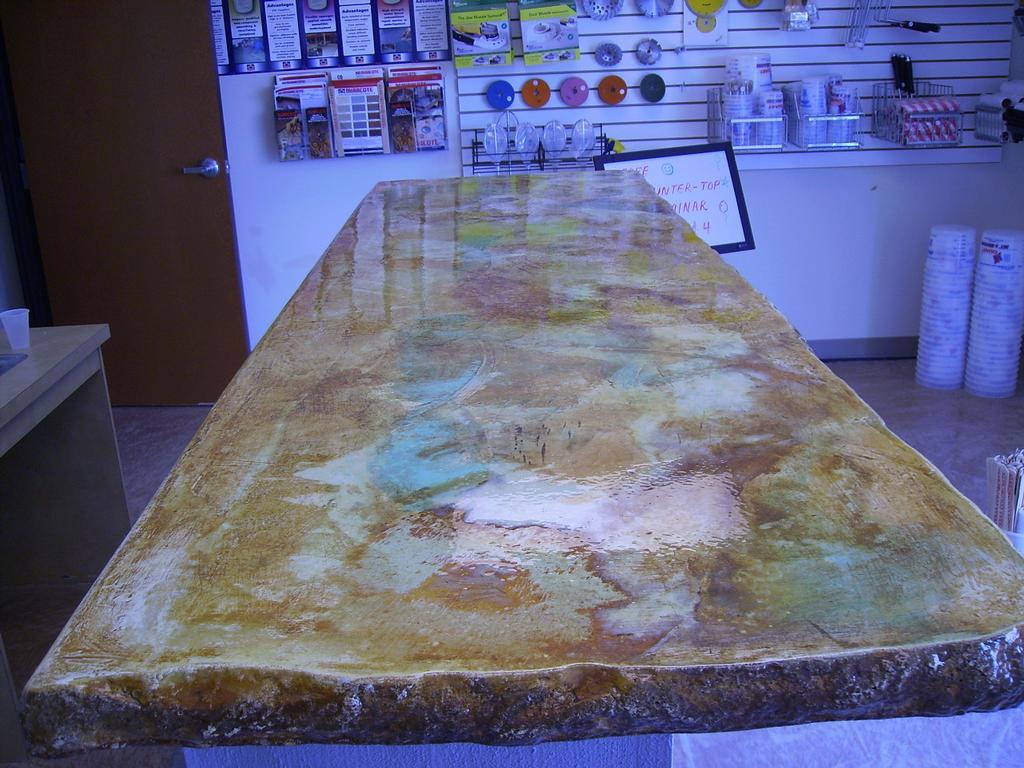 Acid Stain Concrete Countertop Backyard Ideas Pinterest