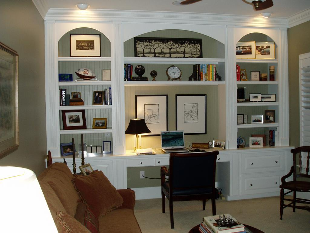 Custom Cabinetry Home Office From Dbr Interiors In Greensboro Nc 27410