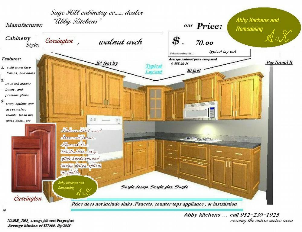 10X10 kitchens Price compare from Abby Kitchens & Remodeling