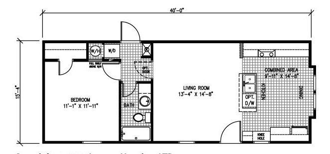 One Bedroom Modular Home Plan Home Ideas Decor