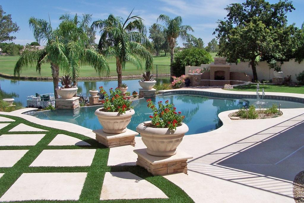 Arizona landscape swimming pool from unique custom pools llc in scottsdale az 85254 - Landscape and pool design ...