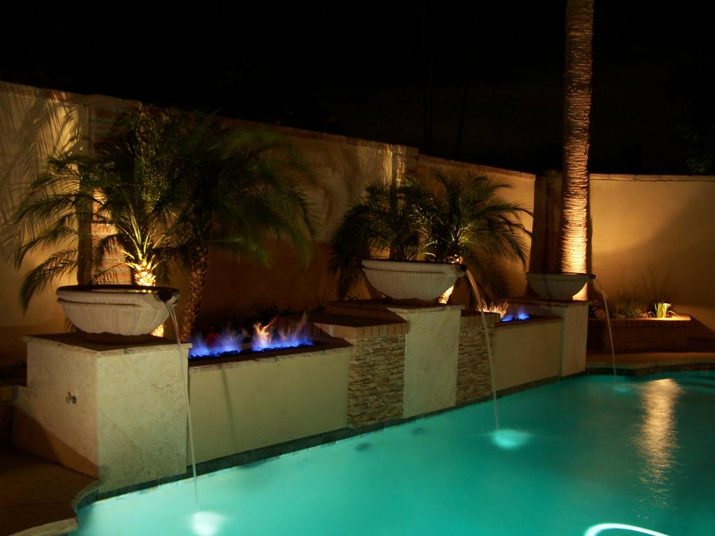 Fire Water Collide From Unique Custom Pools Llc In