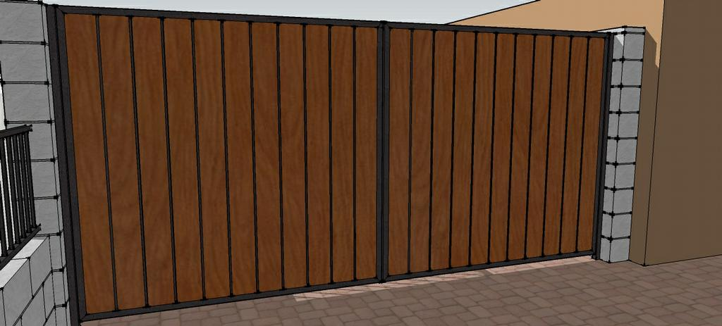 Fence Gates: Wood Fence With Iron Gate