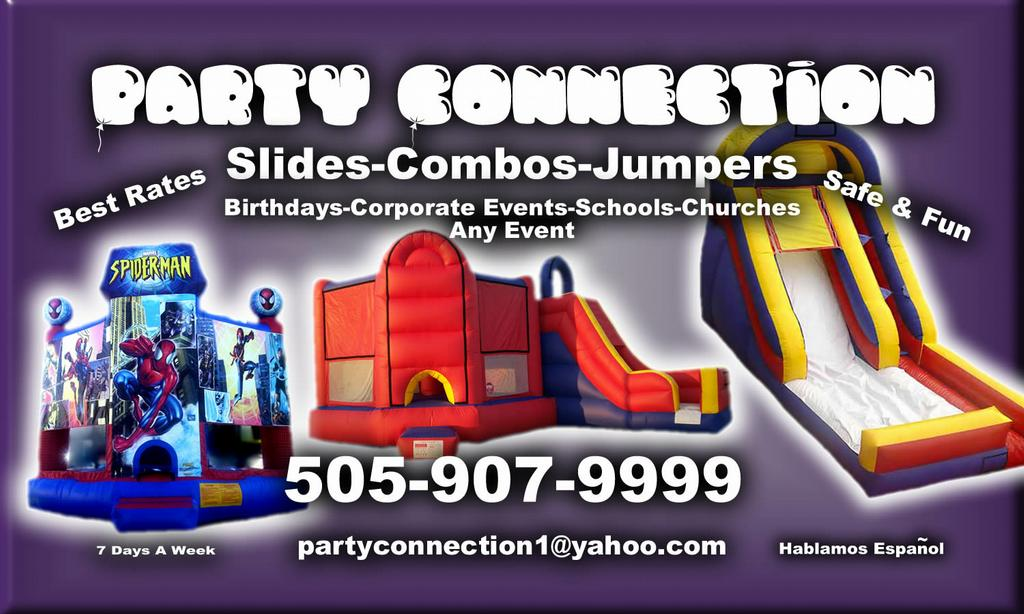 party connection fun jumps more albuquerque nm 87197 505 907 9999. Black Bedroom Furniture Sets. Home Design Ideas