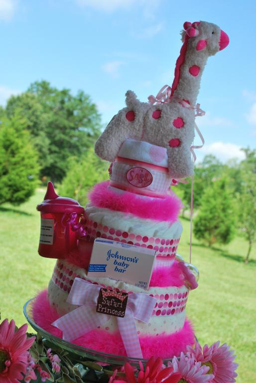 Safari Diaper Cake Safari Princess Diaper Cake