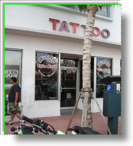 Famous miami ink tattoo shop from southbeachorbust in for Tattoo shops in miami beach