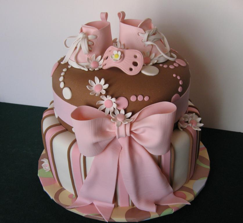 Cake Ideas For A Baby Girl : Living Room Decorating Ideas: Elegant Baby Shower Cakes ...